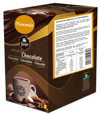 Ship chocolate 10 - Naranja